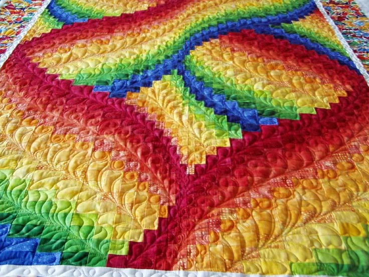 An incredible bargello quilt by Dianesquilting from Webshots. The quilting really makes it special.