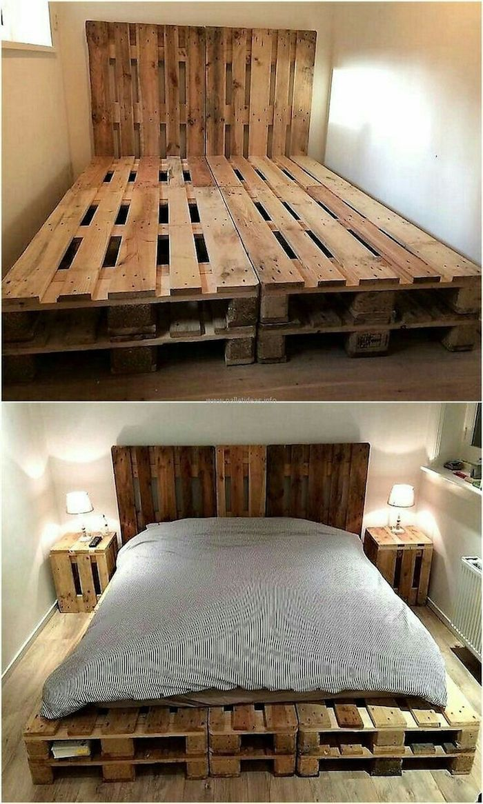 Sommier Avec Palette 1001 Idées Homes And Home Decor Wood Pallet Beds Pallet