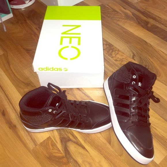Adidas Neo high tops Worn once! Im looking to get back almost what i paid. Comes with two sets of laces and original box :) Adidas Shoes Sneakers