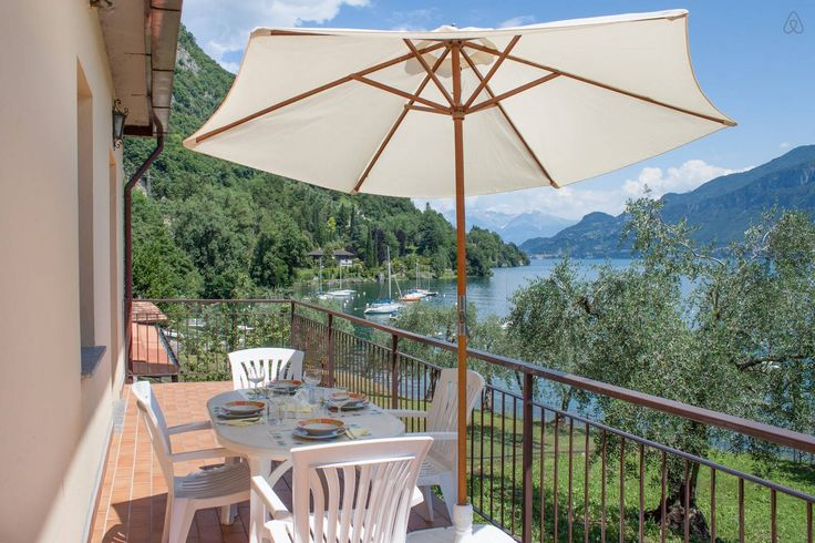 Lunch on the terrace with lake view
