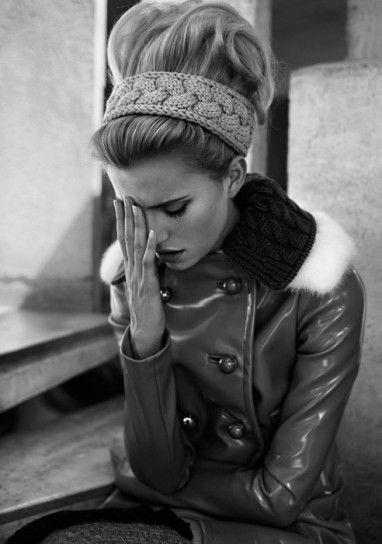 Fascia capelli invernale in maglia