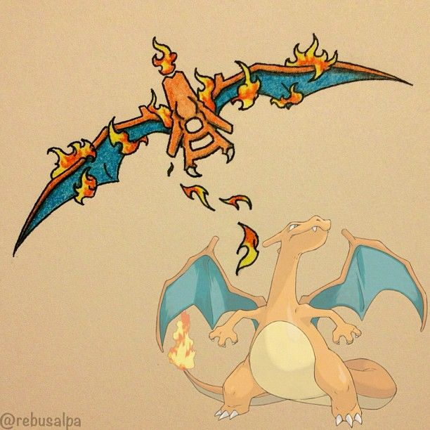 Pokeapon Remake - Charizard                                                                                                                                                                                 Mais