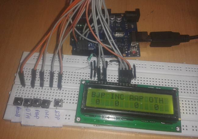 Arduino Based Electronic Voting Machine