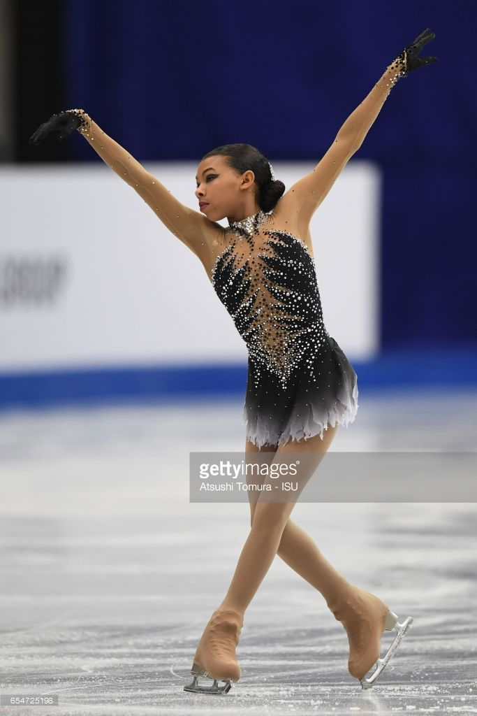 News Photo : Starr Andrews of the USA in the Junior Ladies...