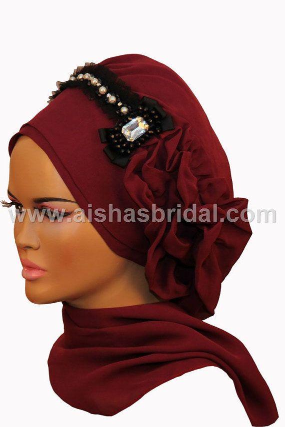 Ready To Wear Hijab Code HT0095 by HAZIRTURBAN on Etsy, $48.00