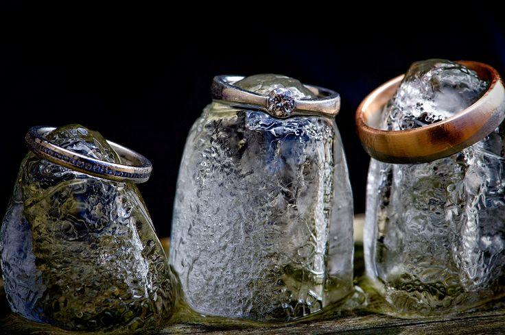 Wedding Rings on Ice Cubes {Folly Farm Wedding, Pensford}