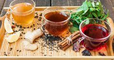 Receitas de chá de hibisco com canela, gengibre e limão