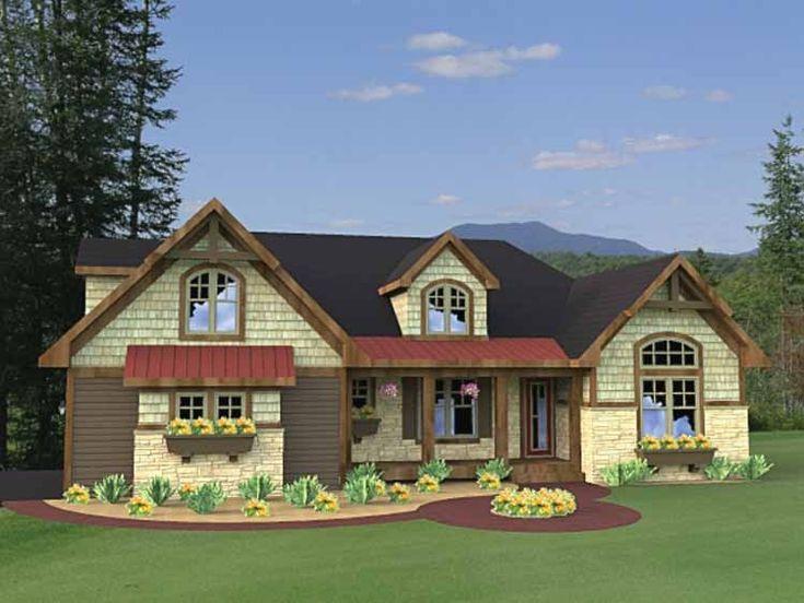 Best Favorite Bedroom House Plans Images On Pinterest Home - Craftsman house plans elevation