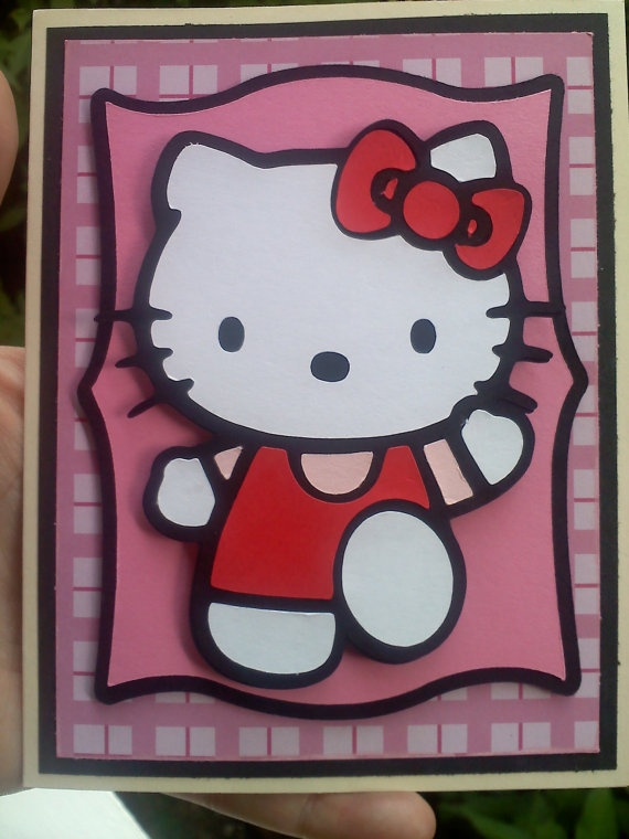 Hello Kitty Card I Could Do This With My Hk Cricut