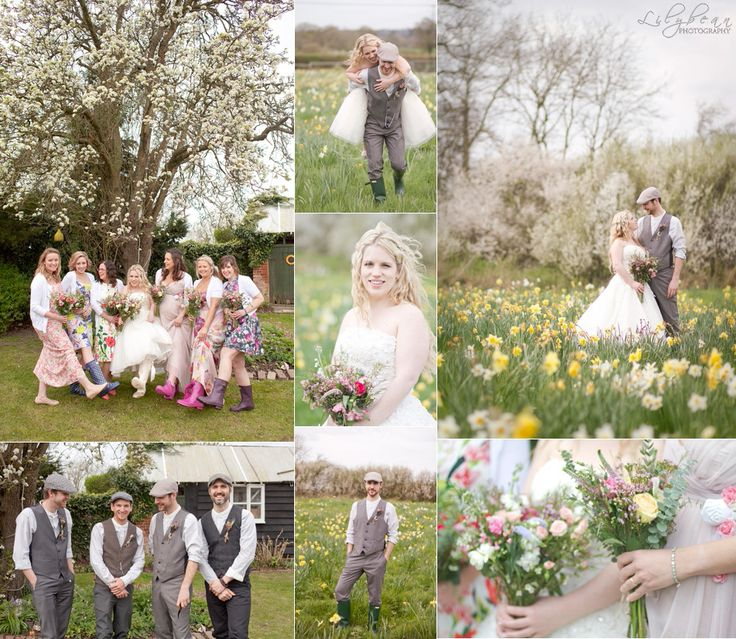 Wedding in Hampshire Taplins Place Spring Wedding Vintage Wedding Country wedding pretty wedding tweed wedding Lilybean Photography Blossom spring flowers