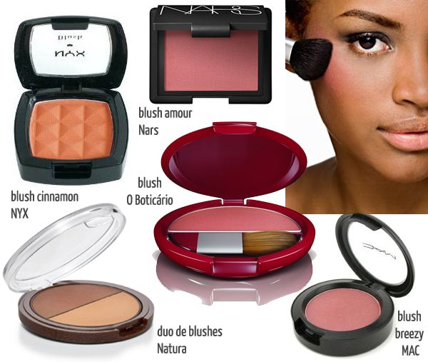 maquiagem para pele negra - blush bronzer contorno iluminador - justfound.com.br 02