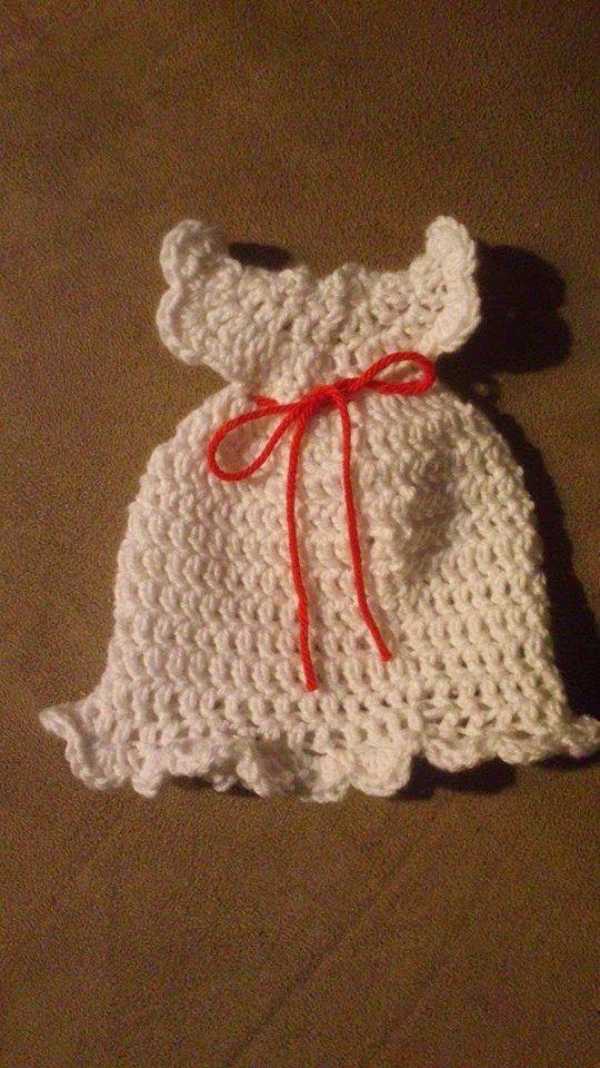 Pysenpigens hobby-hjørne: Minidåbskjole: