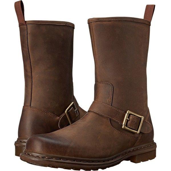 Dr. Martens Falan Zip Rig Buckle Boot (Aztec Darkened Crazy Horse)... ($126) ❤ liked on Polyvore featuring men's fashion, men's shoes, men's boots, men's work boots, brown, mens buckle boots, mens engineer boots, mens work boots, mens harness boots and mens brown biker boots