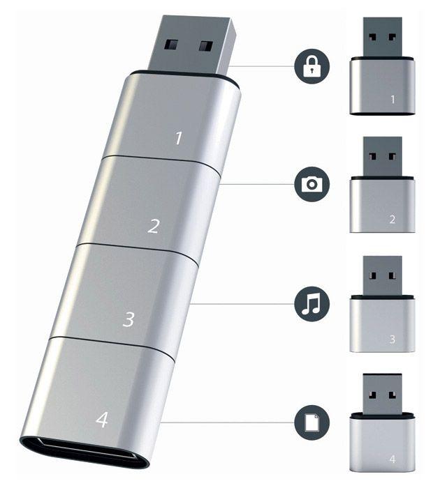 Clé USB modulable par Hyunsoo Song,