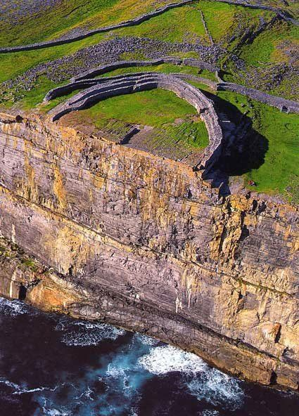 Dun Aengus on Inis mor, Aran islands, Ireland.  Went here today!!