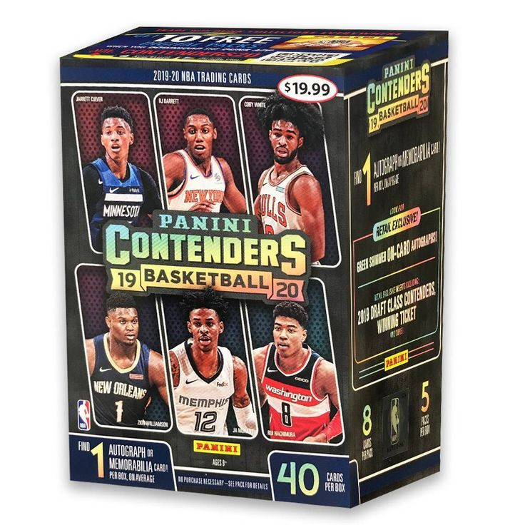 2019 nba contenders basketball trading card blaster box in