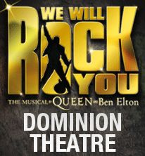 We Will Rock You musical featuring over 30 of Queen's greatest hits.