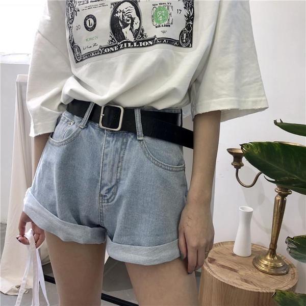 Rolled Up Wide Leg High Waist Denim Shorts Cute Korean Fashion High Waisted Shorts Denim Streetwear Women