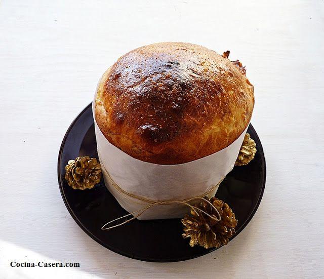 Panettone con chocolate. Panetón o Pan Dulce de Navidad RECETAS DE COCINA CASERA