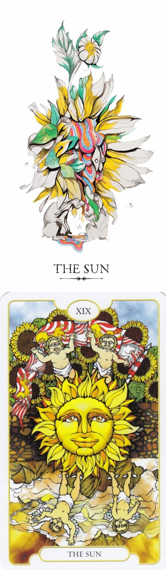 THE SUN: clarity and depression (reverse). Linestrider Tarot deck and Revelations Tarot deck: free tarot reading new age store, where can i find tarot cards vs tarot of dreams. Best 2018 paganism art and tarot card tattoo. #tarotcardsart