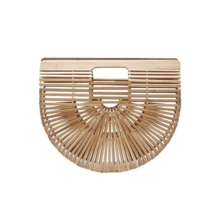 2017 Новая Мода Летом Пляж Мешок Соломы Выдалбливают Бамбуковые Деревянные Сумки Luxury Design Женщины Сумки Ручной Сцепления