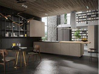 Wooden Kitchen With Peninsula LOOK | Wooden Kitchen   Snaidero · Kitchens  With PeninsulasModern Kitchen DesignsKitchen ...