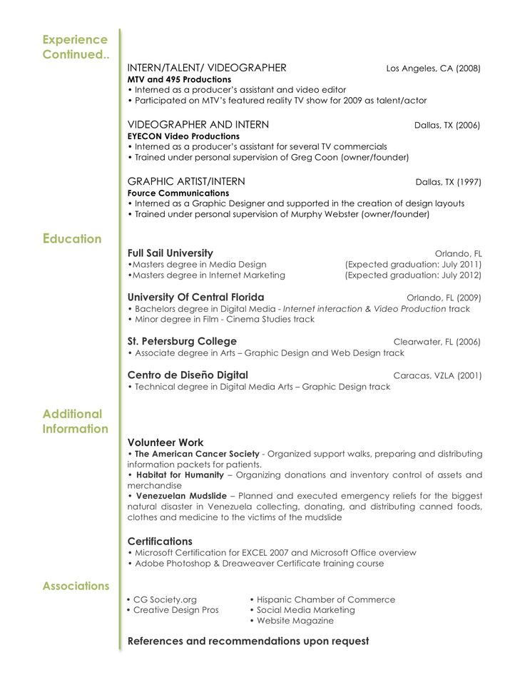 25 best CVu0027s images on Pinterest Resume design, Creative resume - videographer resume