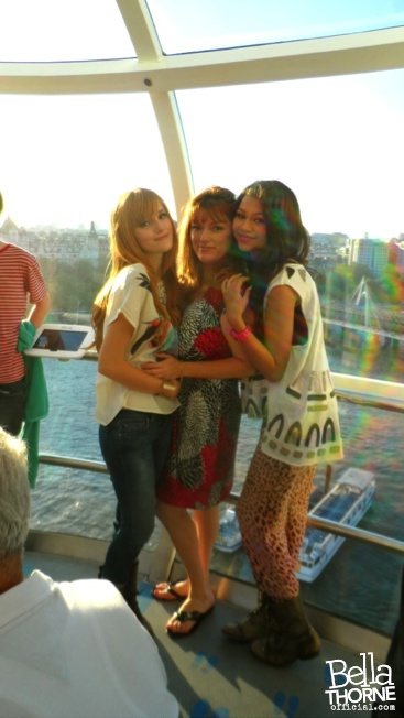 Me, Z, and Mommy in the carriage of the Eye of LondonBellathorne Zendaya