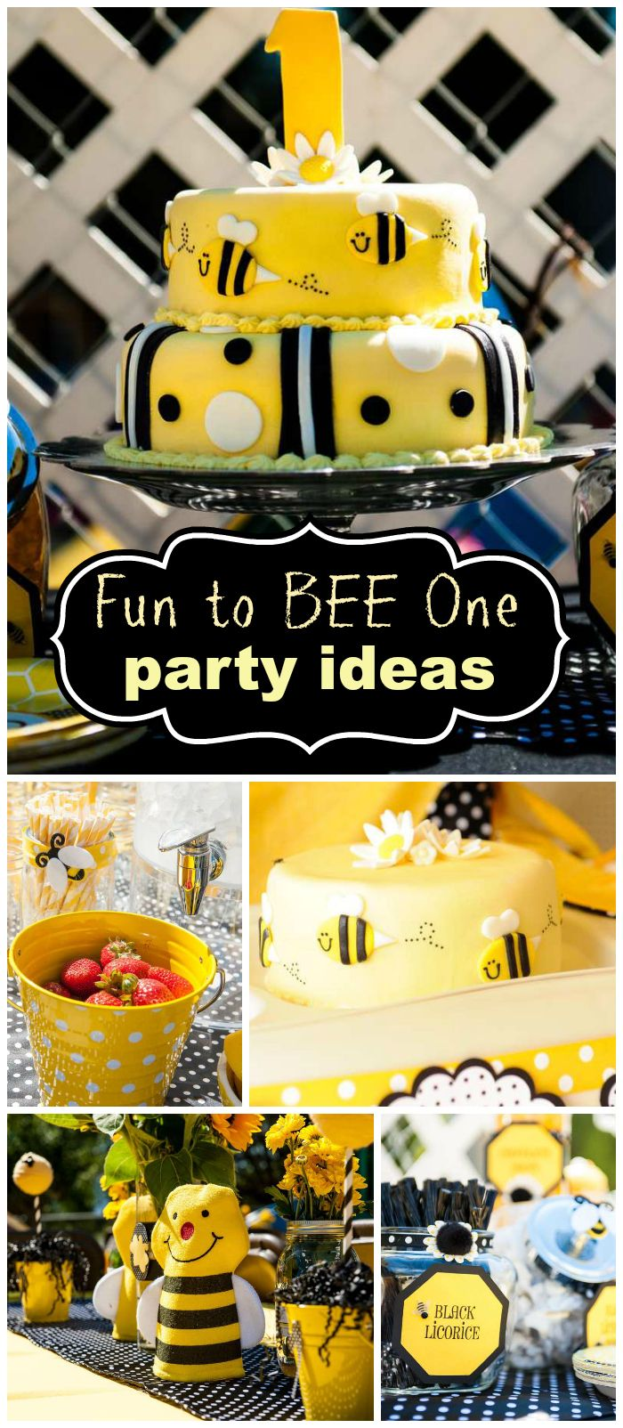 Bumble Bees Birthday Fun To BEE One
