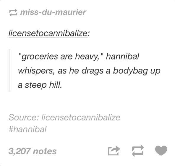 Groceries are heavy!! <<That's what you get for getting extra meat, Hannibal.