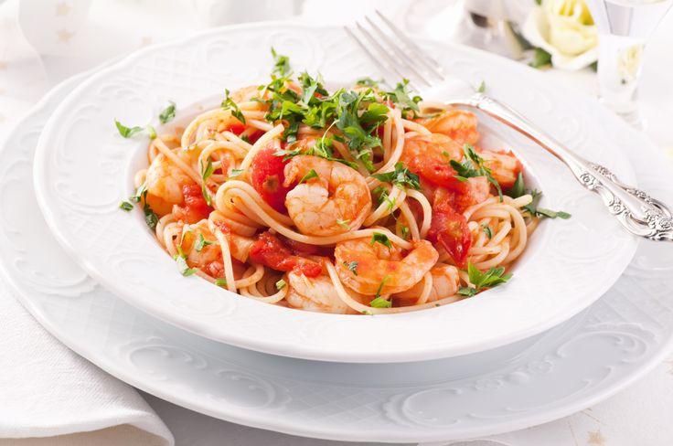 Domingo - Espaguetis con camarones en salsa blanca - 7 días de Sabor con ECONO