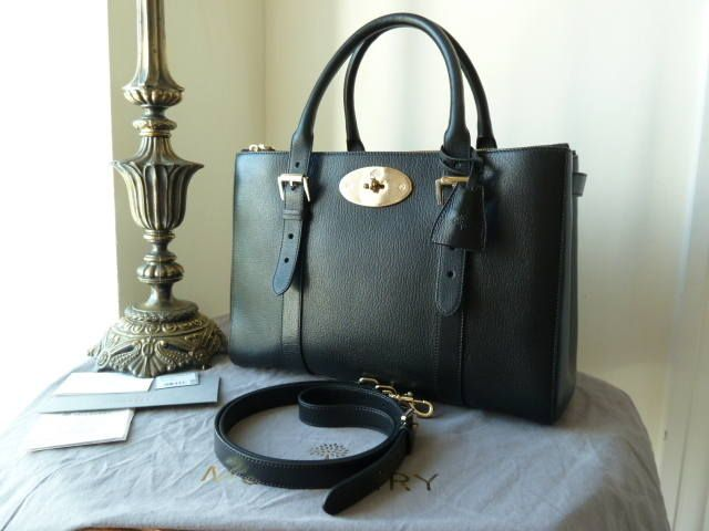 Mulberry Double Zip Bayswater Tote in Black Glossy Goat \u0026gt; http ...