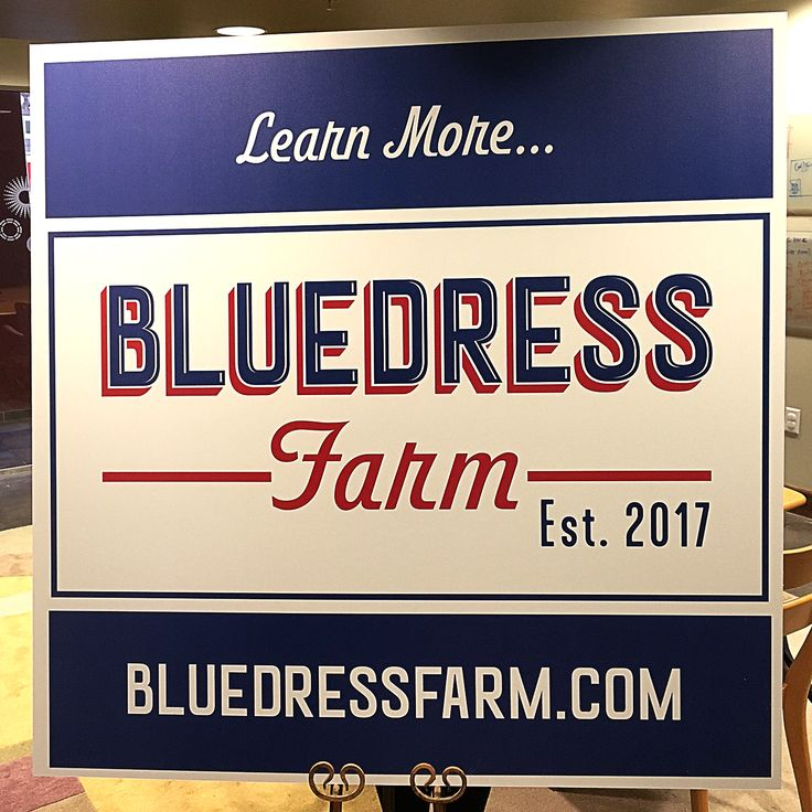 Check out this sign we created for Bluedress Farm in Grayson, Georgia. #ClientLove #RPS #Branding #Marketing
