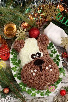 новогодний салат собака на 2018 новый год