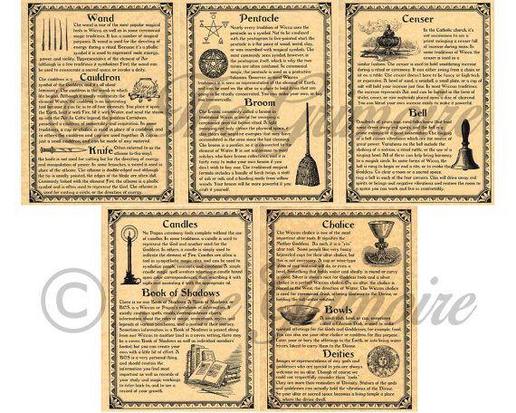 Des outils rituels Wiccan et fournitures, livre 5 de Pages d                                                                                                                                                                                 Plus