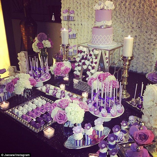 Jersey Shore's JWoww wedding. Love the purple!
