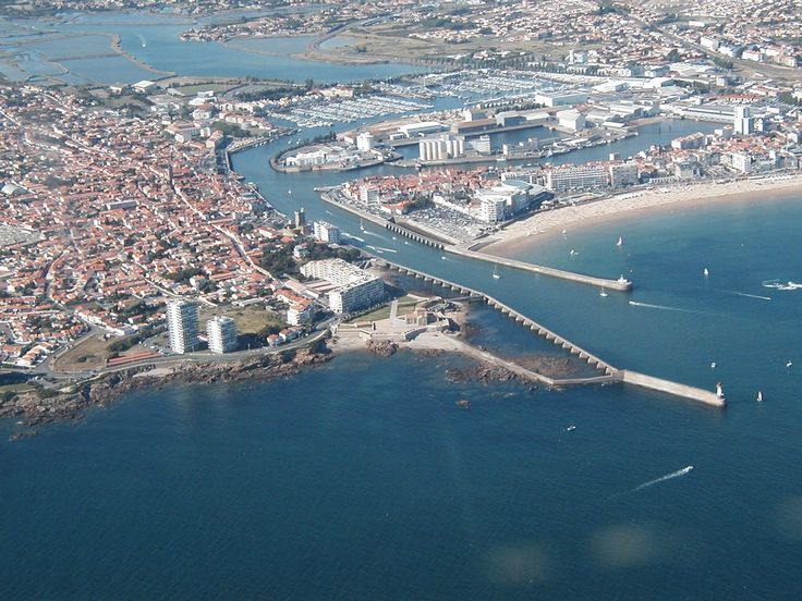 Photo aérienne de : Les Sables-d'Olonne - Vendée (85)