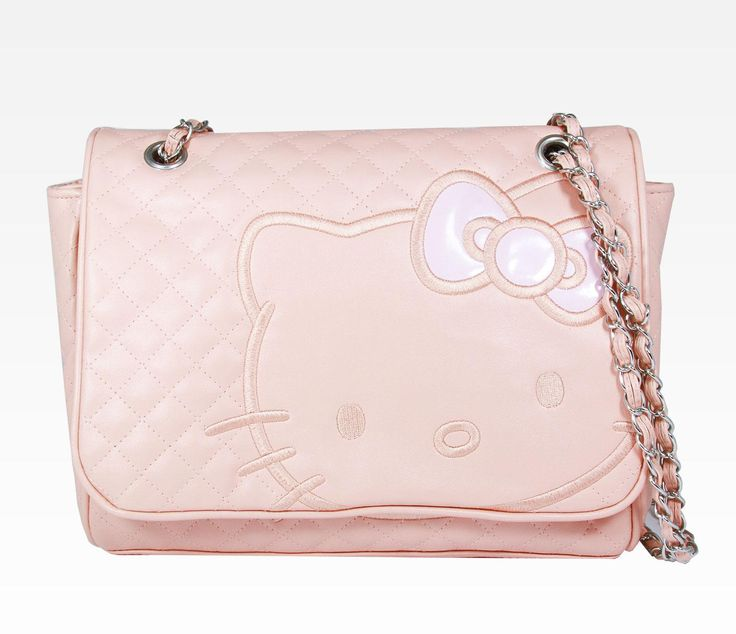 Hello Kitty Shoulder Bag Black Quilt 60