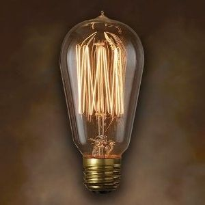 Features:  -Set includes 6 bulbs.  -Replacement.  -Bulb type: E26 Medium base bulb.  -Decorative.  -Finish: Antique.  -Manufacturer provides 1 year warranty.  Wattage: -40 Watts.  Number of Items Incl