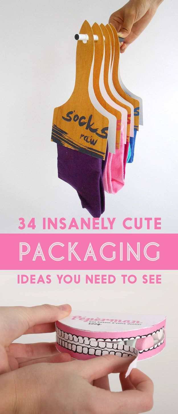 34 Insanely Cute Packaging Ideas You Need To See. #creativepackaging #packaging
