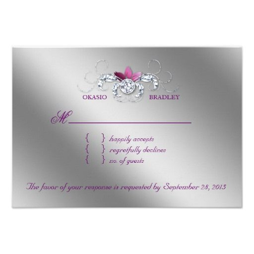 ReviewElegant RSVP Wedding Reply Card Sparkle Purple Lea Custom Invitationsonline after you search a lot for where to buy