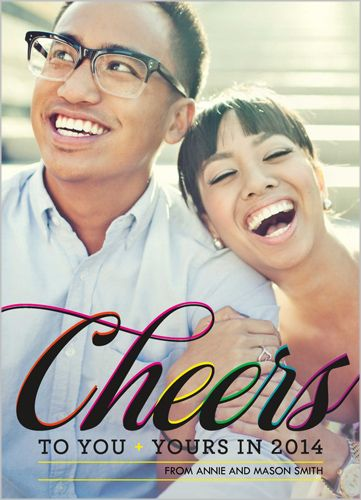 Classy Cheers 5x7 Stationery Card by Float Paperie | Shutterfly.com
