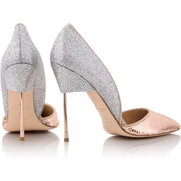 Kurt Geiger London Bond Sequin Court Shoes (530 BAM) ❤ liked on Polyvore featuring shoes, pumps, pink shoes, high heeled footwear, sequin pumps, high heel shoes and kurt geiger pumps