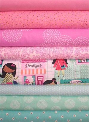 Fabricworm Custom Bundle, Window Shopping in FAT QUARTERS 8 Total