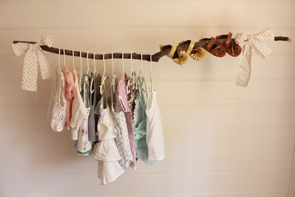 diy closet: Clothing Storage, Clothing Racks, Cute Ideas, Trees Branches, Baby Girl, Baby Clothing, Baby Rooms, Clothing Hangers, Kids Rooms