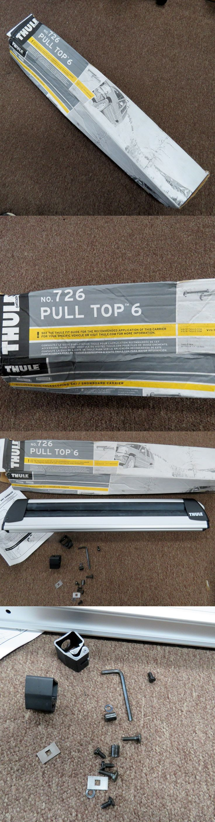 Racks and Carriers 21231: Thule 726 Pull Top 6 Roof Top Ski Carrier Only One Flat Top Carrier -> BUY IT NOW ONLY: $69.99 on eBay!