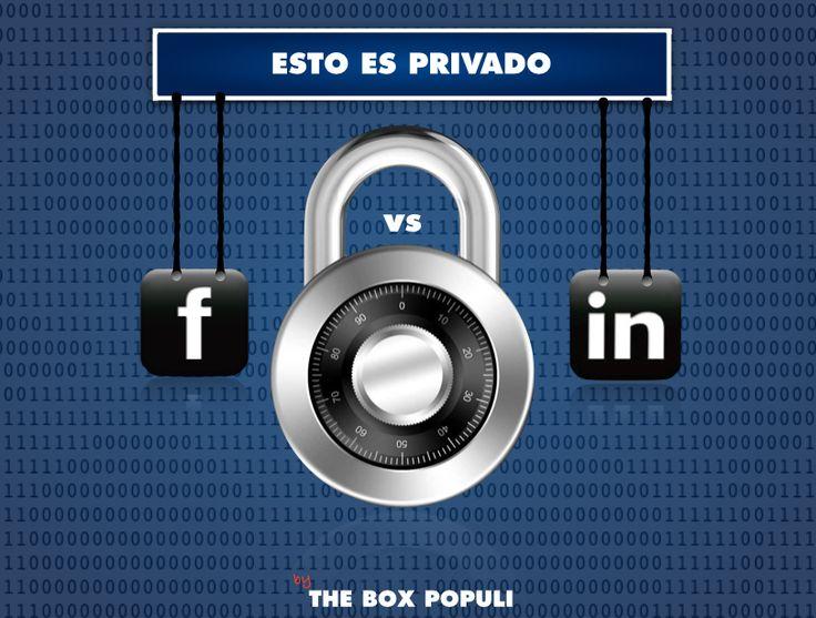 Imagen del post, Esto es privado: Caso de Facebook vs Linkedin. http://bit.ly/FBvsLK  ¿Controlas tu privacidad en Internet?