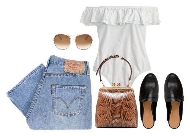 """""""Untitled #617"""" by szudi on Polyvore featuring Levi's, J.Crew and Chloé"""