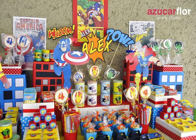 AZUCAR FLOR party studio: Los Vengadores (the mighty Avengers)