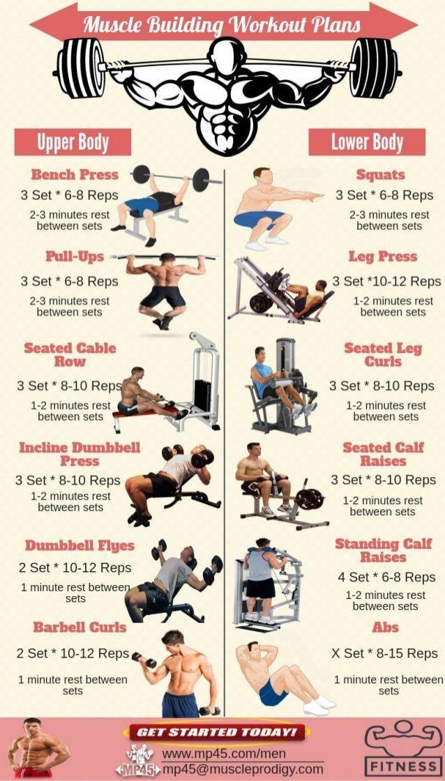 Fitness program för män